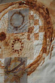 Natalie Magnin - Zamirte Textiles - Textile and Fiber Art: Cosmic Prints Art Fibres Textiles, Textile Dyeing, Textile Fiber Art, Textile Artists, Fabric Paper, Fabric Painting, A Level Textiles, Shibori Fabric, Creative Textiles