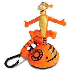 Tigger is the best. He & Pooh are a great pair and will make you laugh everytime. Tigger Disney, Tigger Winnie The Pooh, Pooh Bear, Eeyore, Vintage Phones, Vintage Telephone, Disney Clock, Et Phone Home, Orange Phone