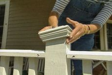 How to Build a Wooden Porch Railing using Stock Rails and Balusters. Rails and Balusters are Cut to Length On Site.