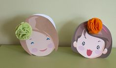 adorable way to gift headbands.  When you open the card a headband is inside.