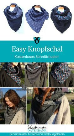 Easy button scarf for the whole family- Easy Knopfschal für die ganze Familie Button scarf for adults scarf winter autumn sew free sewing pattern free sewing instructions freebie sewing idea gift idea - Free Sewing, Knitting Patterns Free, Free Knitting, Free Crochet, Free Pattern, Easy Crochet, Crochet Gifts, Easy Knitting Projects, Knitting For Kids