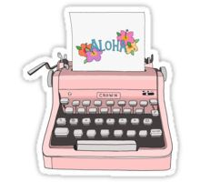 Aloha Typewriter Sticker
