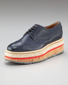 Leather Oxford with Cork Sole