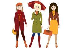 Autumn Girls by LoveGraphicDesign on Creative Market