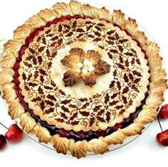 stenciled pie crust for Pie crust upgrade