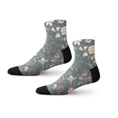 31b5b81d325 Abstract Birds And Flowers Pattern Fun Crazy Cool Novelty Cuff Men Women  Socks - Abstract Art Socks - Artwork-Based Collections - Shop by Interest