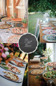 8 food stations your guests are sure to love! Love the idea of a pizza bar!