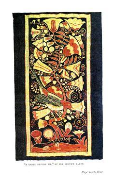 Art - Batik - A Table Before me