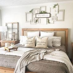 28 Perfect Bedding For Farmhouse Bedroom Design Ideas And Decor. If you are looking for Bedding For Farmhouse Bedroom Design Ideas And Decor, You come to the right place. Below are the Bedding For Fa. Home Decor Bedroom, Bedroom Furniture, Bedroom Colors, Bedroom Ceiling, Bedroom Lighting, Bedding Decor, Ikea Bedroom, Bedroom Curtains, Bedroom Plants