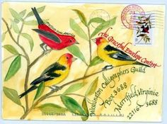 """An entry for """"The Graceful Envelope Contest"""" - I love goldfinches"""