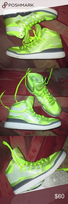 reputable site e95b9 2f898 Adidas Forum Crazylight Neon Size 11 Adidas Neon Volt Sneakers Size 11  great looking shoe but slightly narrow in the foot for me so not really worn  often My ...