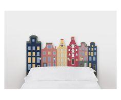 Testiera letto in legno di pino Amsterdam, 105x115x5 cm | Dalani Home & Living