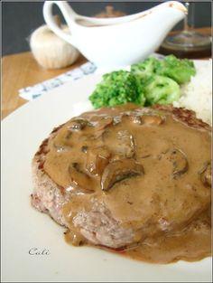 Sauce Crémeuse aux Champignons 003 Sauce Steak, Marinade Sauce, Meat Sauce, Creamy Mushroom Sauce, Creamy Sauce, Creamy Mushrooms, Wine Recipes, Beef Recipes, Cooking Recipes