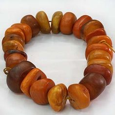 Old amber beads. Genuine old amber beads collected from Africa, the Yemen, Iran and other locations - much of it Baltic in origin with a rich history of trade. Amber Beads, Amber Jewelry, Ethnic Jewelry, Jewelry Making Beads, Beaded Jewelry, Handmade Jewelry, Jewellery, Beads Pictures, Bead Art