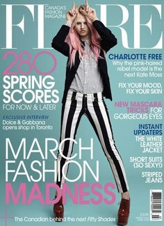 outfit  (Charlotte Free Flare magazine cover)