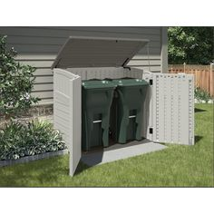 Shop Suncast Vanilla Resin Outdoor Storage Shed (Common: 53-in x 32.25-in; Interior Dimensions: 49-in x 28.25-in) at Lowes.com
