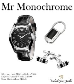 ff43f82c4eaa0 Black is always a fail safe choice for gents gifts. Armani and Mont Blanc  have the look. Classic