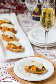 Brie Toasts With Basil, Pine Nuts And Golden Raisins Recipe ...