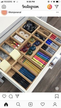 Legende 45 Awesome Home Office Organization Ideen und DIY Office Storage, . - Legende 45 Awesome Home Office Organization Ideen und DIY Office Storage, - Desk Drawer Organisation, Home Office Organization, Drawer Organisers, Home Office Decor, Organization Hacks, Home Decor, Desk Storage, Office Storage Ideas, Organization Ideas For The Home