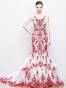 ilyssa trouwjurk trouwkleed rood red wedding dress