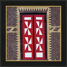 Jenny Rainbow Fine Art Photography Framed Print featuring the photograph Red And White Window Shutters. De Haar Castle by Jenny Rainbow Art Prints For Home, Home Art, Fine Art Prints, Framed Prints, Poster Prints, Framing Photography, Fine Art Photography, Window Shutters, Frame Shop