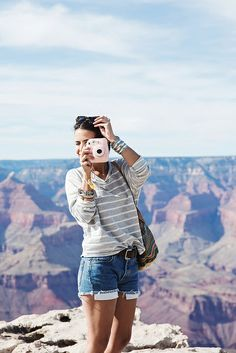 Grand_Canyon-Arizona-Shorts_Levis-Striped_Top-COnverse-Outfit-Denim-3 by collagevintageblog, via Flickr
