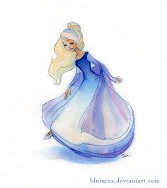 cinderella sketch by Blumina.deviantart.com on @deviantART
