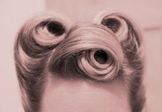 #pin up #vintage hair #style