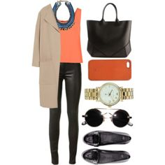 Like the long jacket, plus the neutral/bright combo