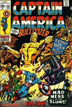 captain america comic book photos | Captain America #133 comic book from Marvel Comics Group