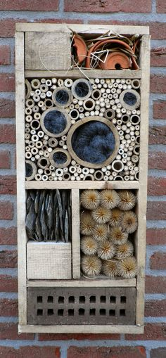 Insect Hotel, handmade by GreenART Erica Bug hotel, Insectenhotel. Garden art