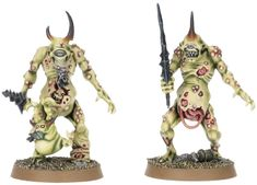 Plaguebearers of Nurgle for the Warhammer game by Games Workshop. Space Marine Dreadnought, Warhammer Games, Miniture Things, Marines, Workshop, Bee, Death, Miniatures, Change