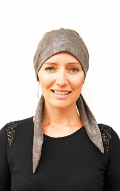 Hats for people suffering hair loss due to chemotherap - Foil Hat - So easy to wear xx Hair Loss, Scarves, Hats, Womens Fashion, People, Handmade, How To Wear, Style, Scarfs
