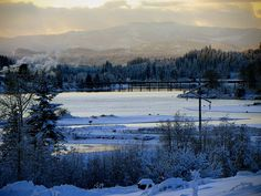 Looking into the Priest River from the Pend Oreille River, Idaho- A perfect place to spend Christmas