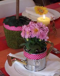 cute garden party favor or mothers day lunch. beautiful ideas. Home Design Ideas