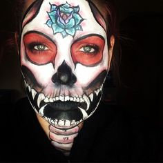 Sugar skull inspired by Queens of the Stone Age song The Vampyre of Time and Memory. Find me on IG-Kim Whitesel
