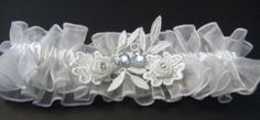 Wedding vintage Garter Bridal-Garter White Ivory-Sparkly Organza-garter R/L/X. Blue Garter, Wedding Garter, Wedding Vintage, Something Blue, Ivory, Bridal, Ebay, Jewelry, Fashion