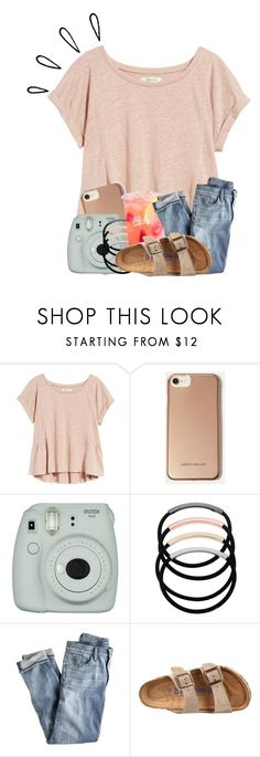 """""""OOTD: Had a health test today. . . ."""" by meinersk45195 ❤ liked on Polyvore featuring Madewell, Karen Millen, Fujifilm, L. Erickson, J.Crew, Birkenstock and Old Navy"""
