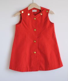 Toddler Girl Jumper Dress - to make with red corduroy