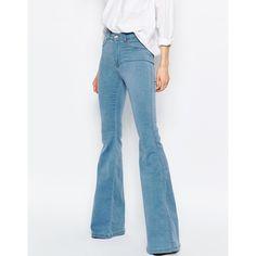 Dr Denim Saige High Waist Flare Jeans ($85) ❤ liked on Polyvore ...