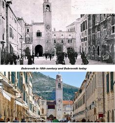 Dubrovnik today and probably in the late 1800's.
