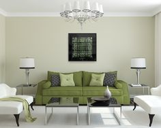 Aqua Lingua artwork in living room