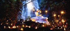 Dine next to a jungle waterfall in your next Honeymoon or romantic escape at The Sarojin, Thailand