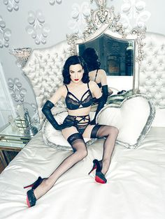 Dita von Teese Burlesque Photoshoot in Louboutins