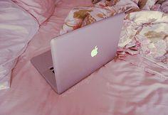 Mac:) My baby.  She goes where I go.  I wipe her with  diaper.  My Air.