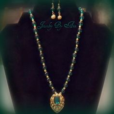 Classy, unique & 1-of-a-kind necklace & earring set designed and created by Ann Ray.  $10.00 + S&H. Paypal. contact info: annray253@bellsouth.net & 229-460-0051