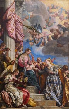 The Mystic Marriage of Saint Catherine, c1565 Paolo Veronese (1528-1588). Martyrdom of Saint George, c1565. Chiesa