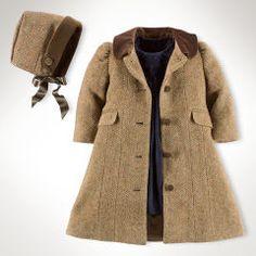 Tweed coat and bonnet - Baby Girl (Newborn-24M) - RalphLauren.com