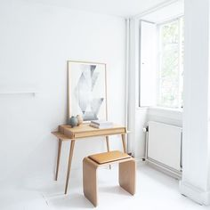 From a day of photographing for @eniito in the studio a few weeks back. Love this little oak desk.