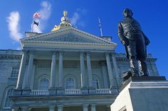 New Hampshire State House building in Concord.
